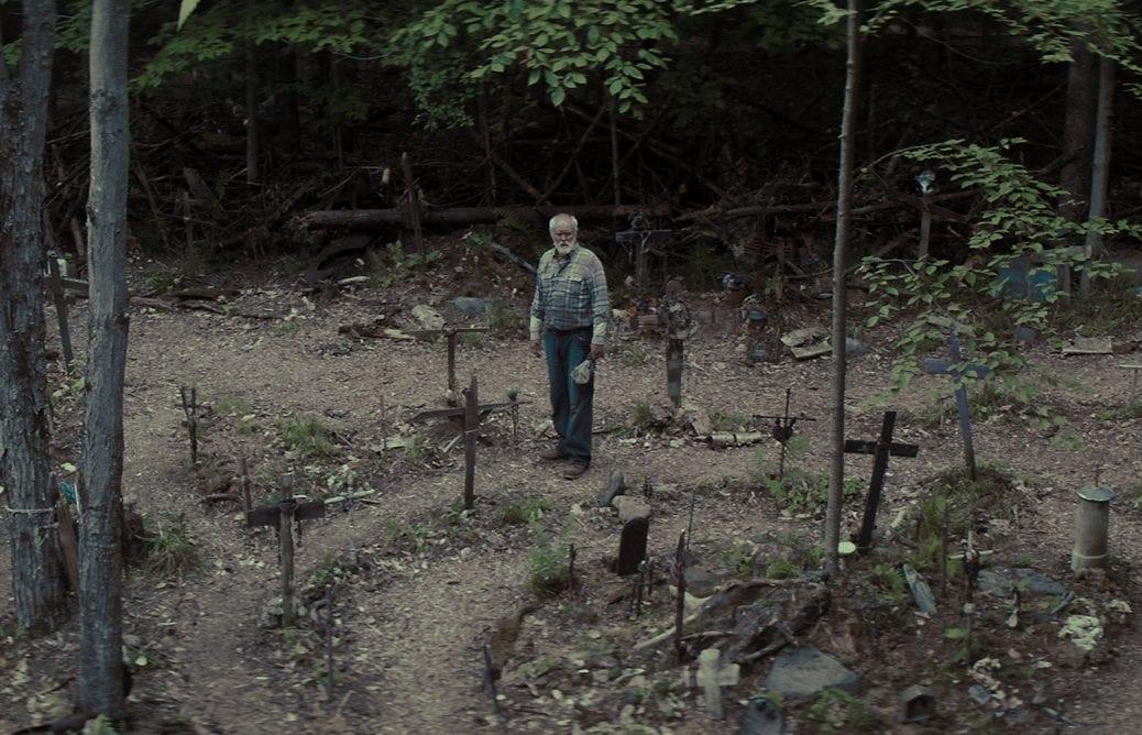 Jud Crandell på den berömda jurtjyrkogården.