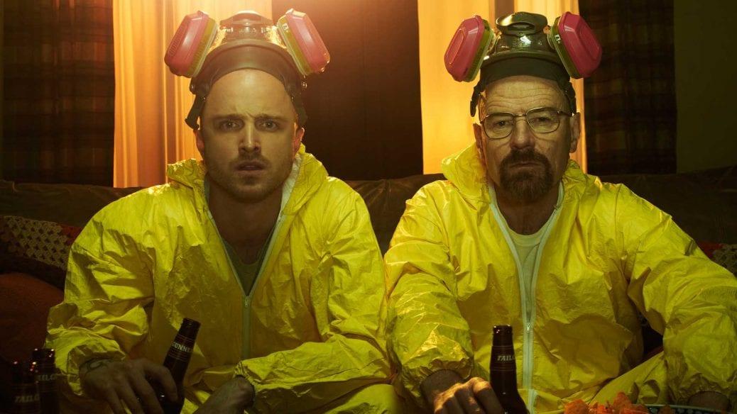 "Aaron Paul och Bryan Cranston i originalserien ""Breaking Bad"""