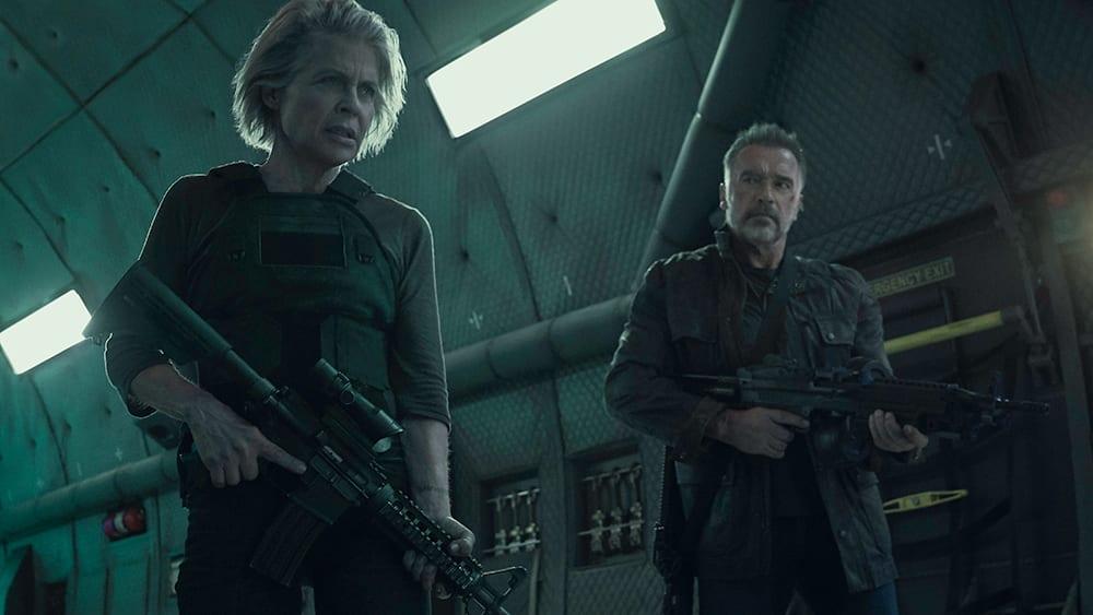 Linda Hamnilton och Arnold Schwarzenegger i Terminator: Dark Fate.