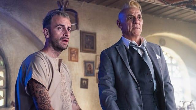 Joseph Gilgun och David Field i fjärde säsongen av Preacher.