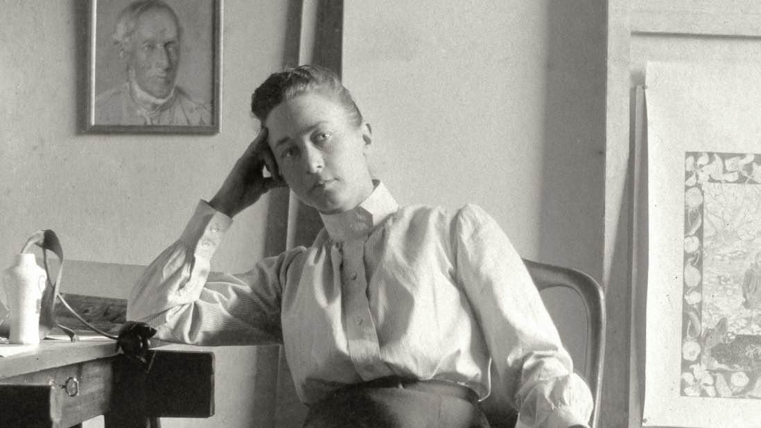 Hilma af Klint i sitt hem