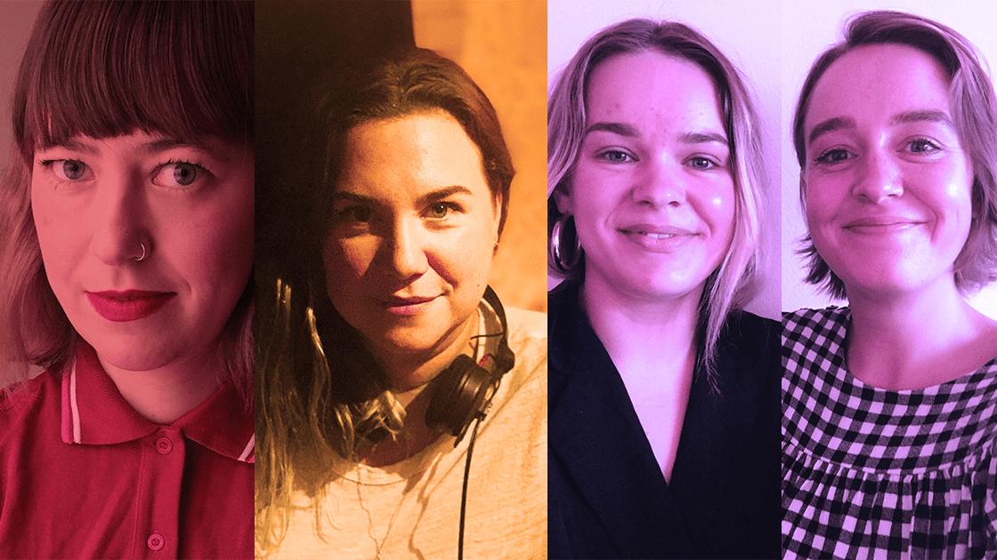 Ida Kjellin, Lisa James Larsson samt Sofie Forsman och Tove Forsman.