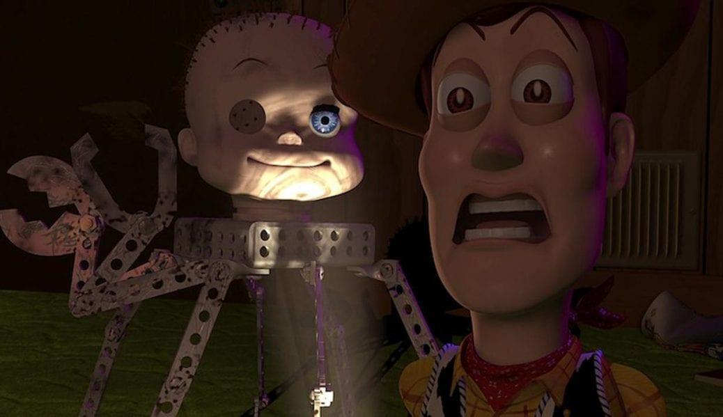Woody och Spindeldockan i Toy Story.
