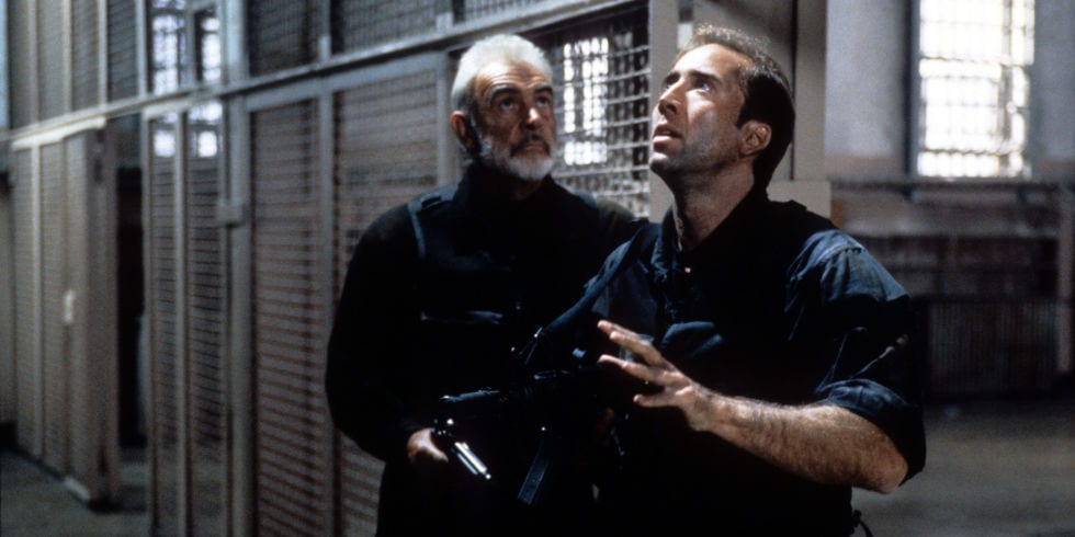 Nicolas Cage och Sean Connery i The Rock