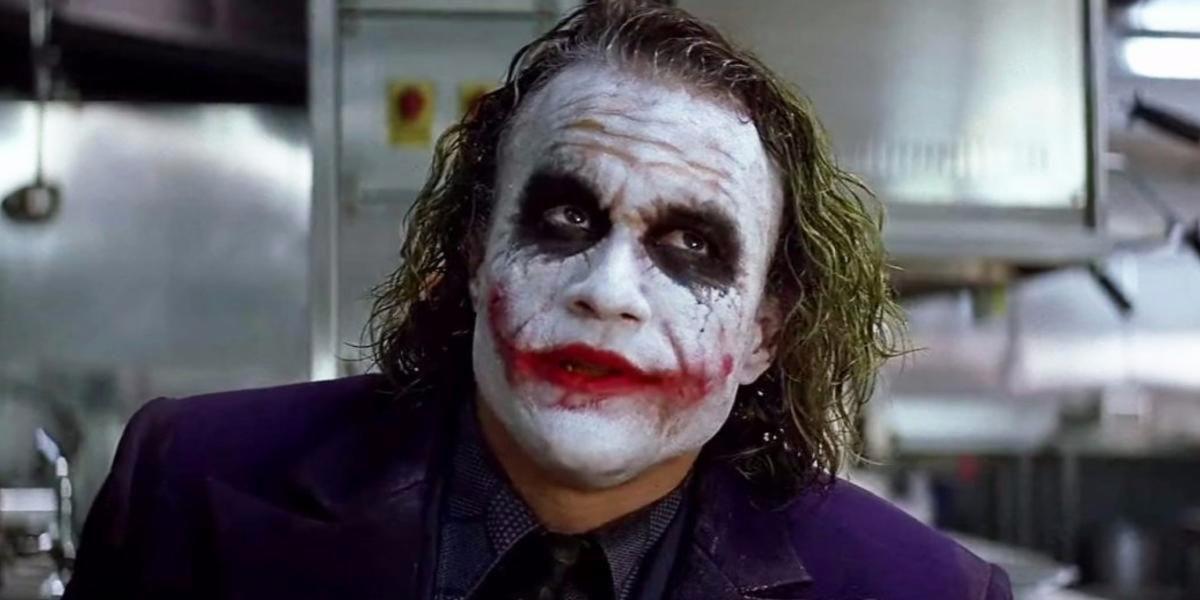 Heath Ledger som Jokern i The Dark Knight.