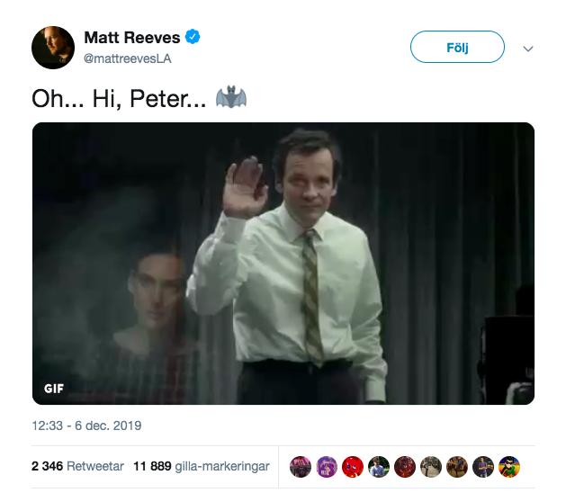 Matt Reeves Tweet