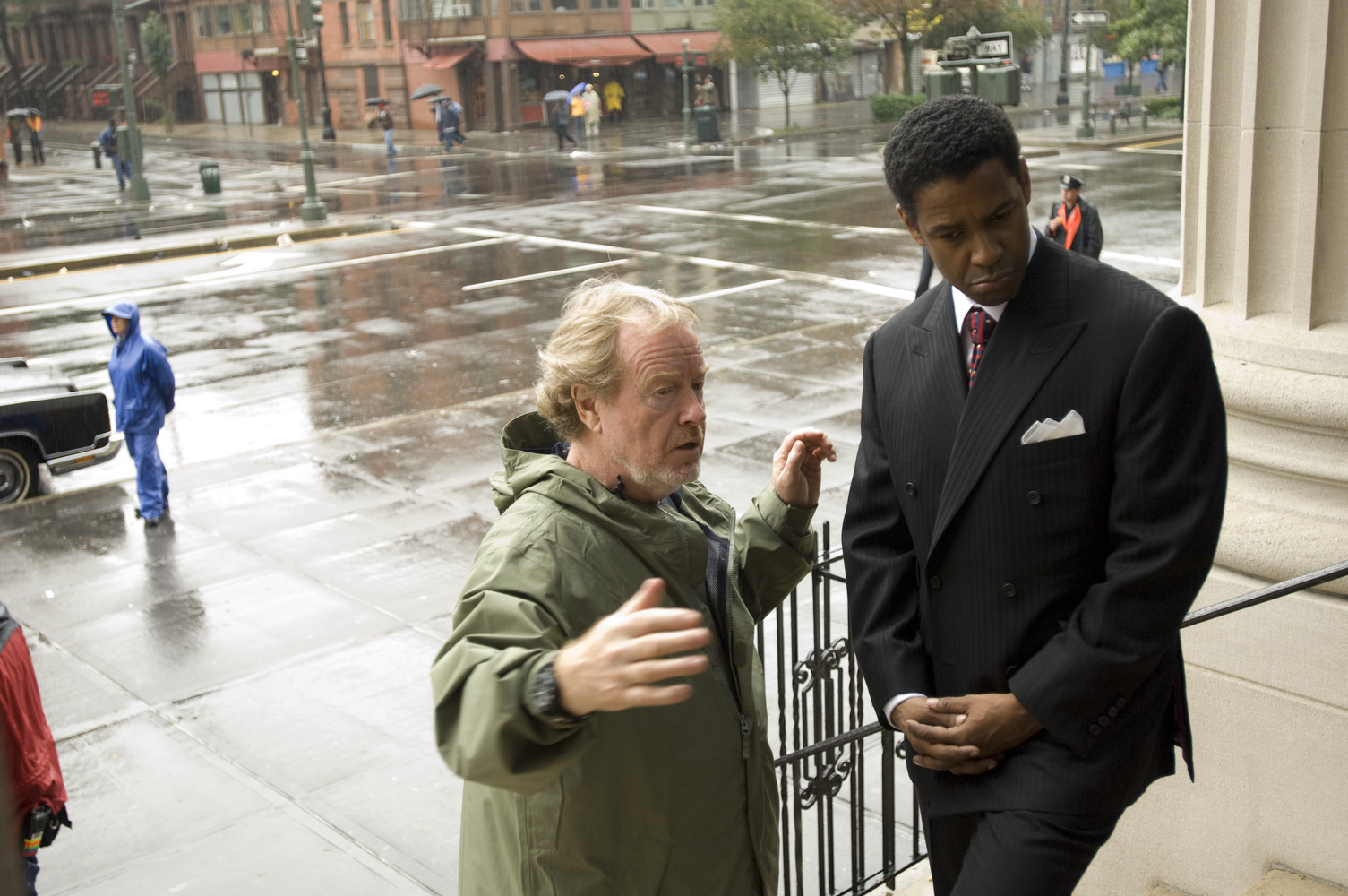 Ridley Scott och Denzel Wahsington.