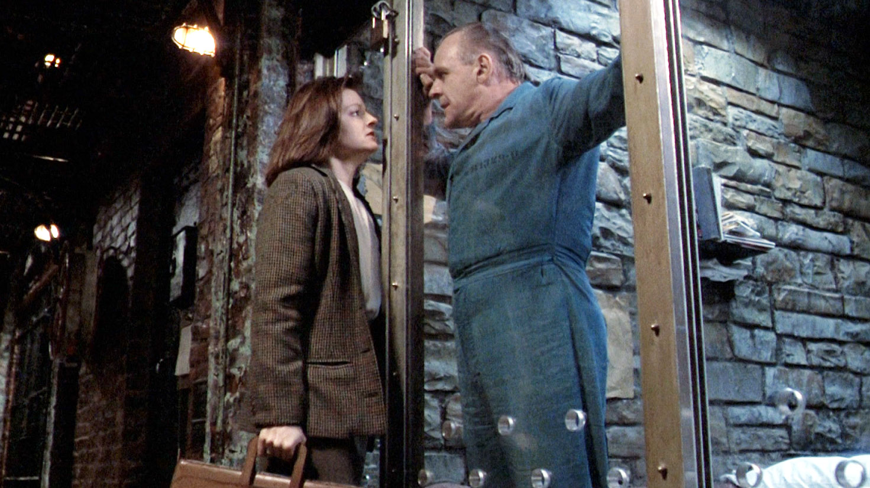 """Jodie Foster och Anthony Hopkins i """"När lammen tystnar"""" (1990)."""