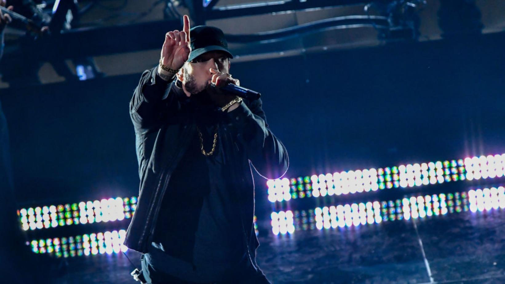 Eminem på Oscarsgalan. Foto: ABC/TV4