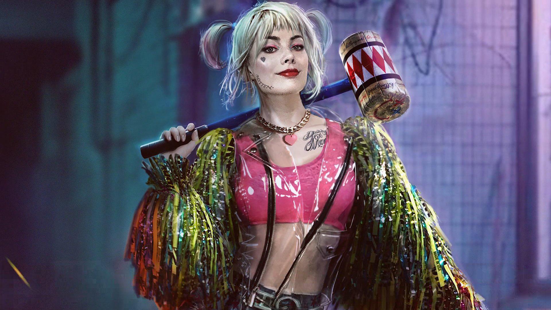 Margot Robbie som Harley Quinn.