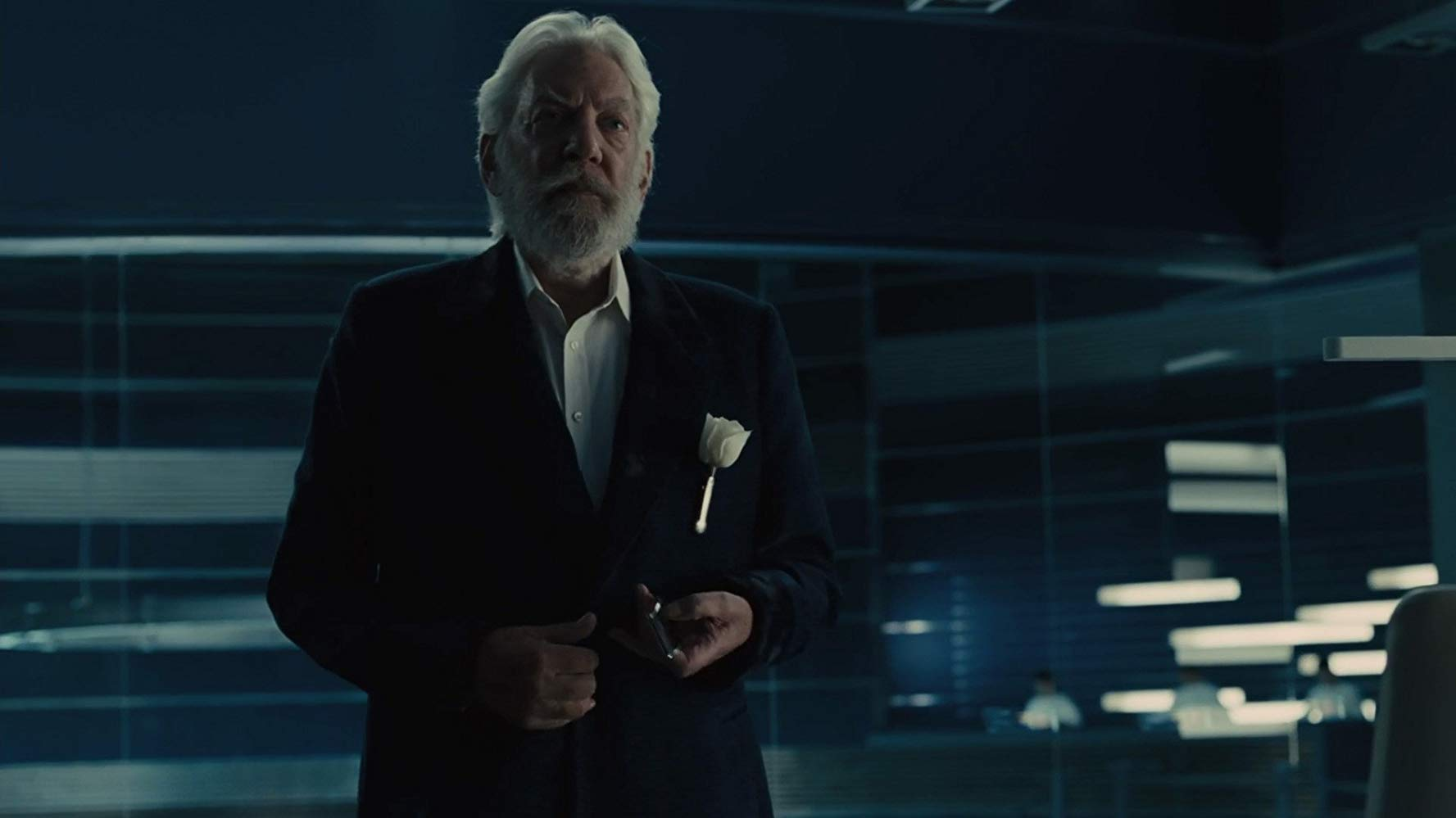 """Donald Sutherland i """"The Hunger Games: Catching Fire"""" (2013)."""