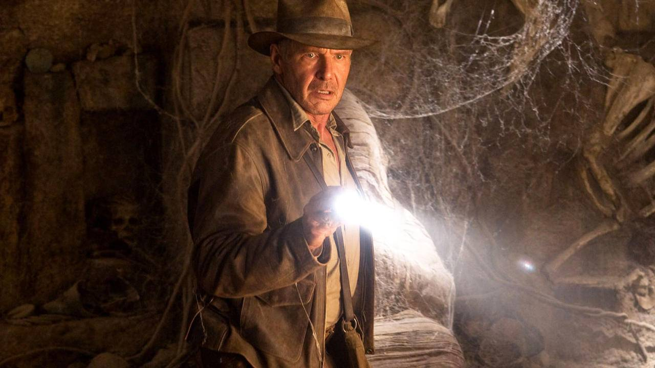 """Harrison Ford i """"Indiana Jones och kristalldödsskallens rike""""."""