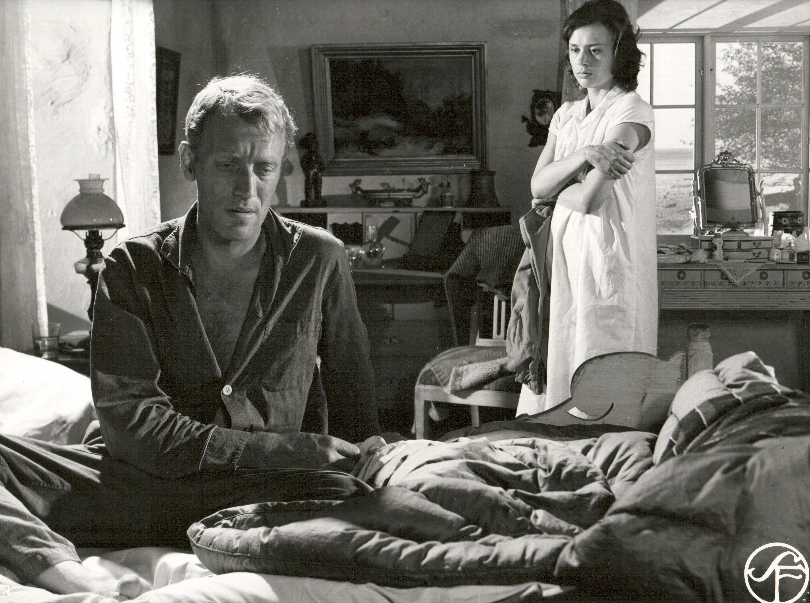 Max von Sydow med Harriet Andersson i Såsom i en spegel.