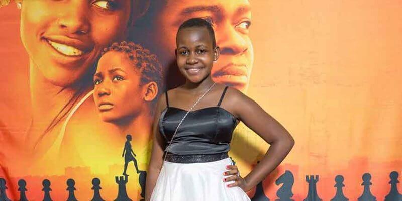 """Nikita Pearl Waligwa på premiären för """"Queen of Katwe""""."""