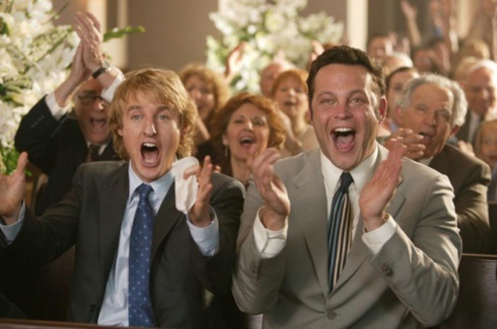 "Owen Wilson och Vince Vaughn i ""Wedding Crashers"" (2005)."
