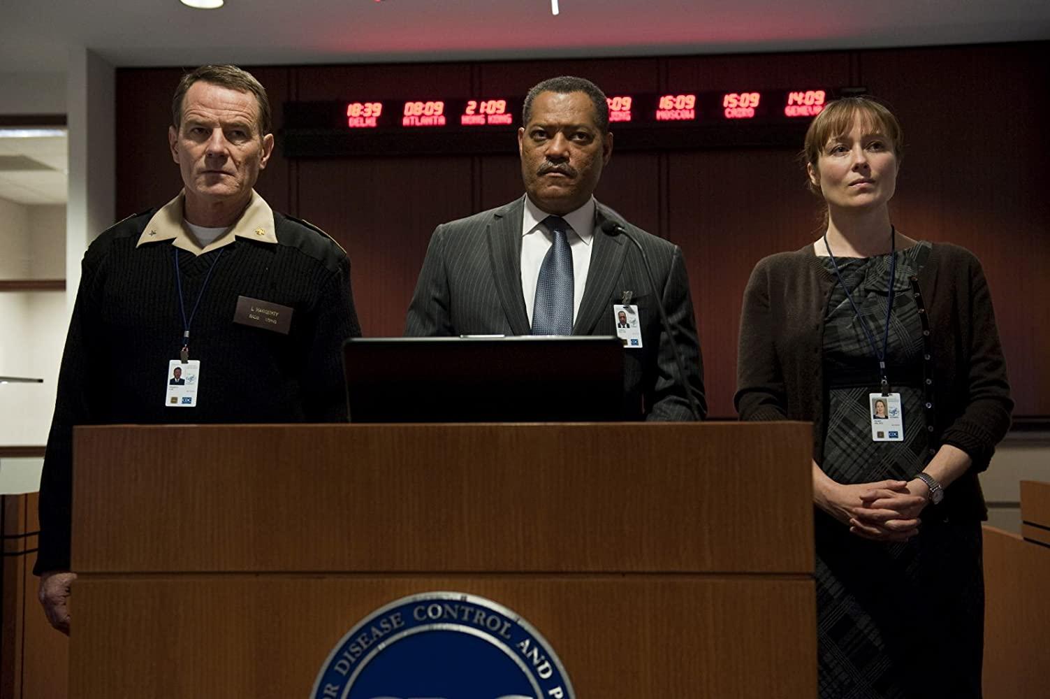 Laurence Fichburne har inte bara hjälpsamma tips för Neo. När viruset härjar, kommer han med tips som kan rädda liv. Foto: Warner Bros. Pictures.