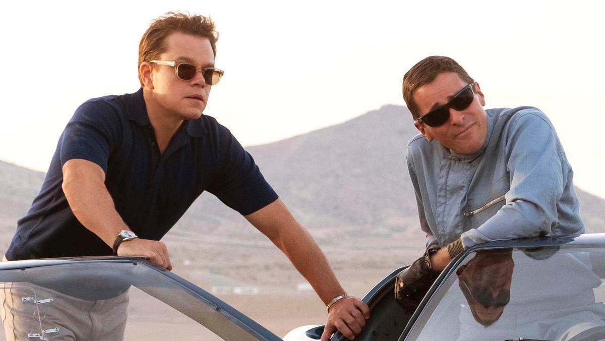 "Matt Damon och Christian Bale i ""Le Mans '66""."