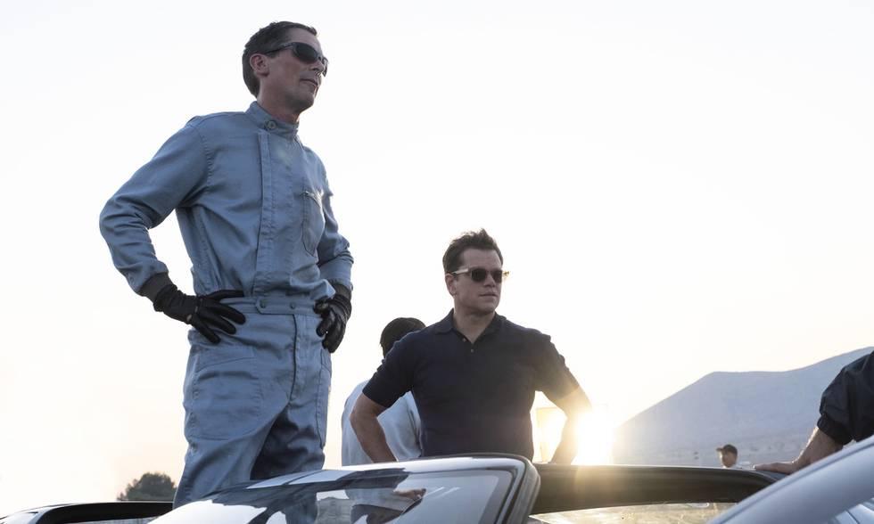 "Christian Bale och Matt Damon i ""Le Mans '66""."