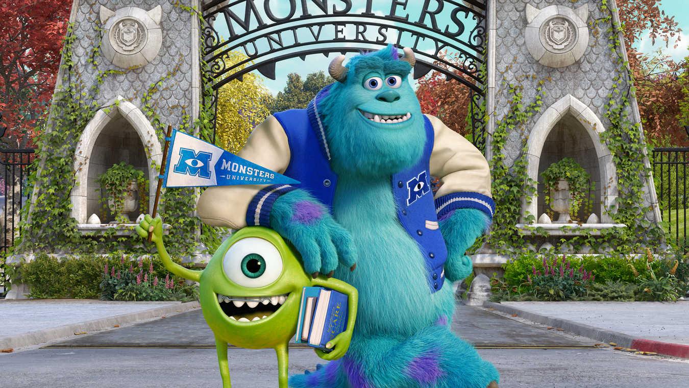 """Bild från """"Monsters University""""."""