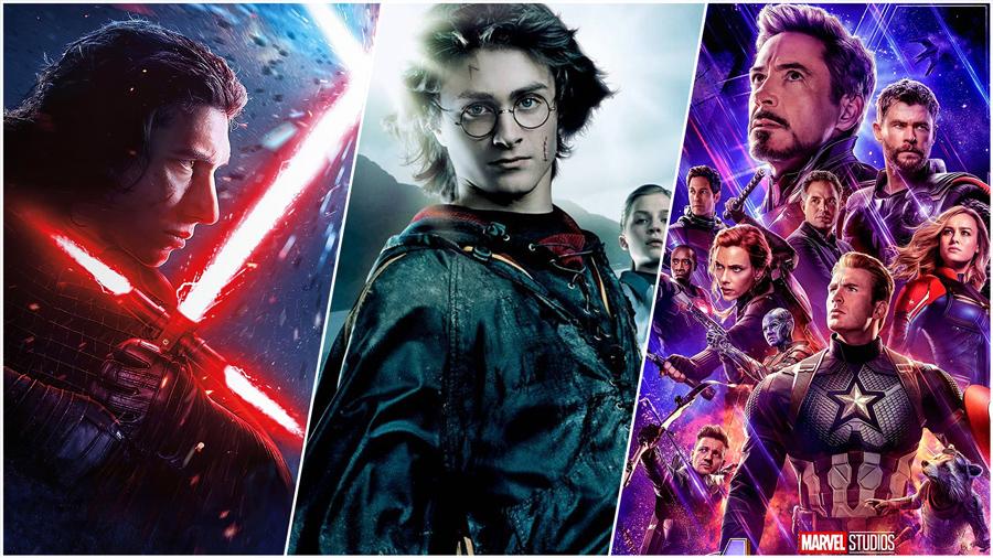 Star Wars, Harry Potter, Avengers: Endgame