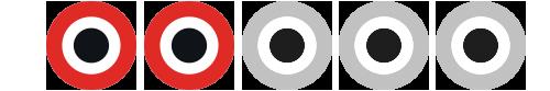 Filmtopps betygssymbol för betyget 2 av 5