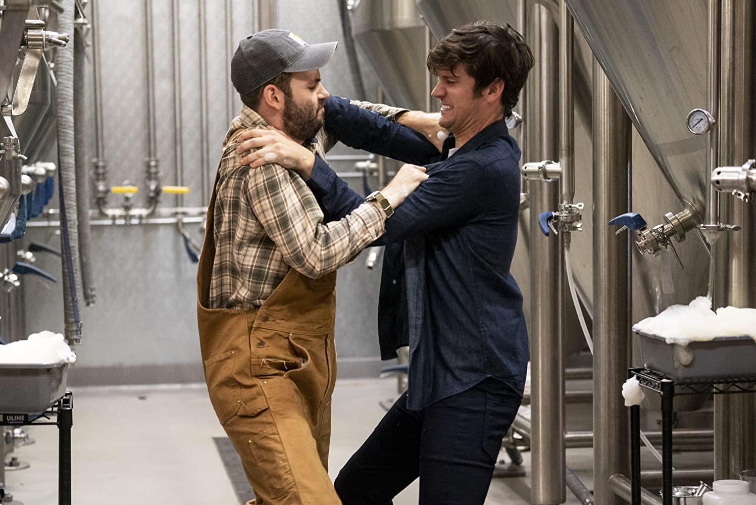 Bröderna Wilhelm och Adam bråkar i Brews Brothers.