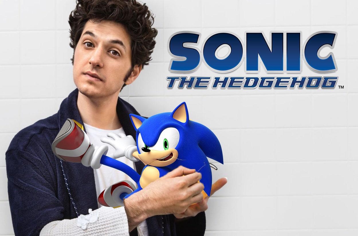 Ben Schwartz med sin karaktär Sonic