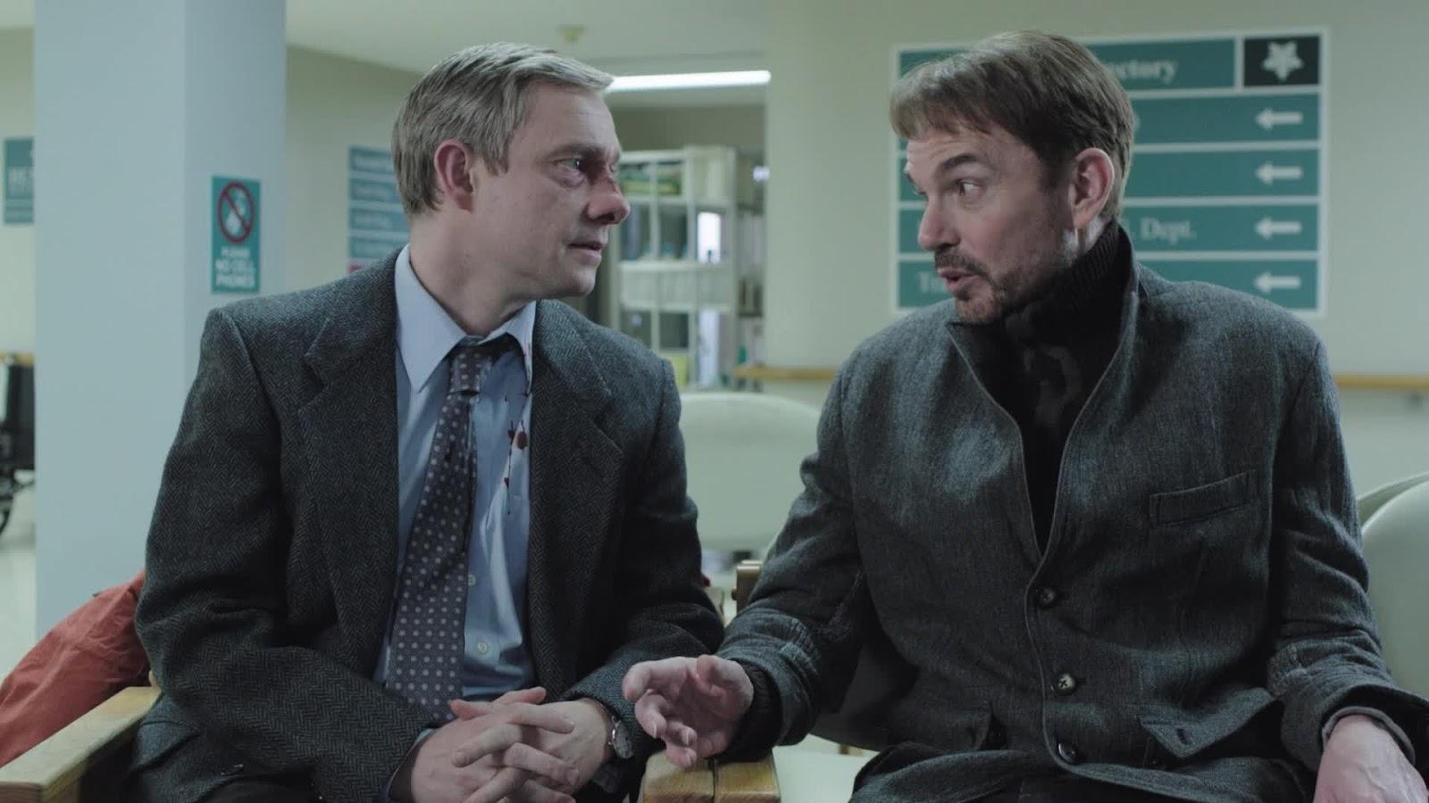 """Martin Freeman och Billy Bob Thornton i """"Fargo""""."""