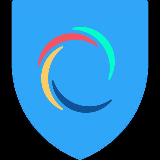 Hotspot Shield logotyp. Gratis och laglig VPN.