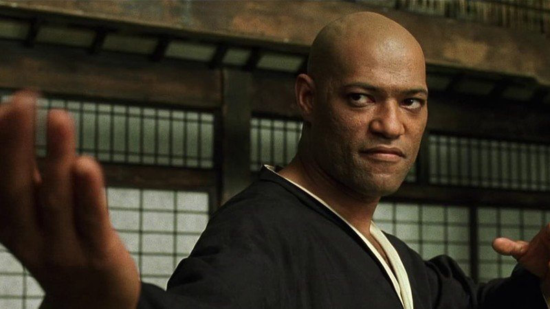 """Lawrence Fishburne i """"The Matrix""""."""