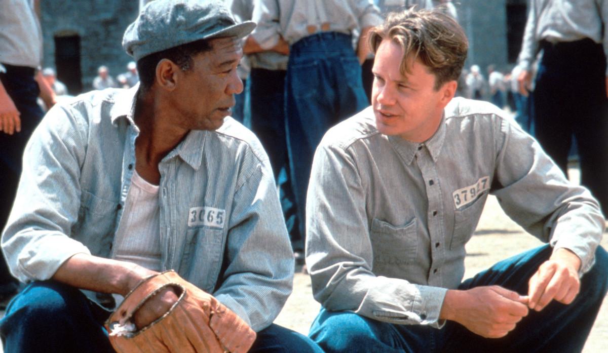 """Morgan Freeman och Tim Robbins i """"Nyckeln till frihet""""."""