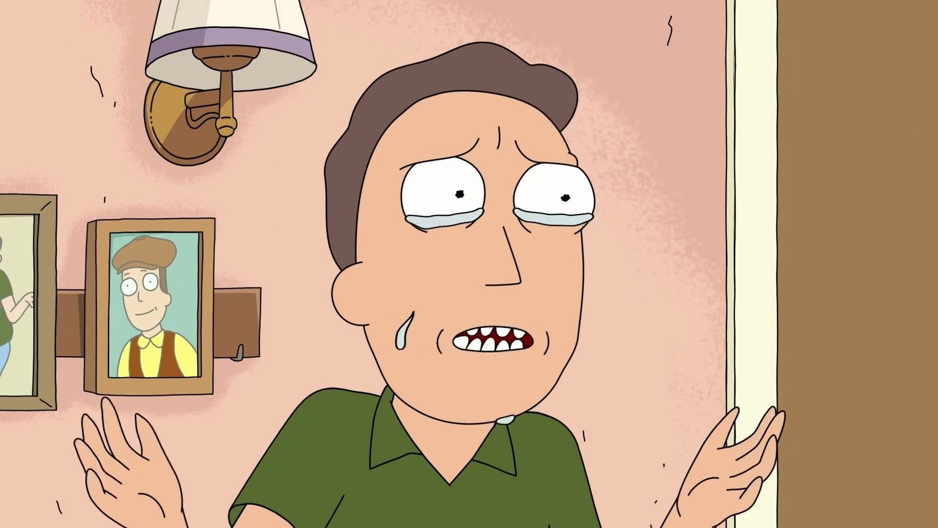 """Jerry i """"Rick and Morty""""."""