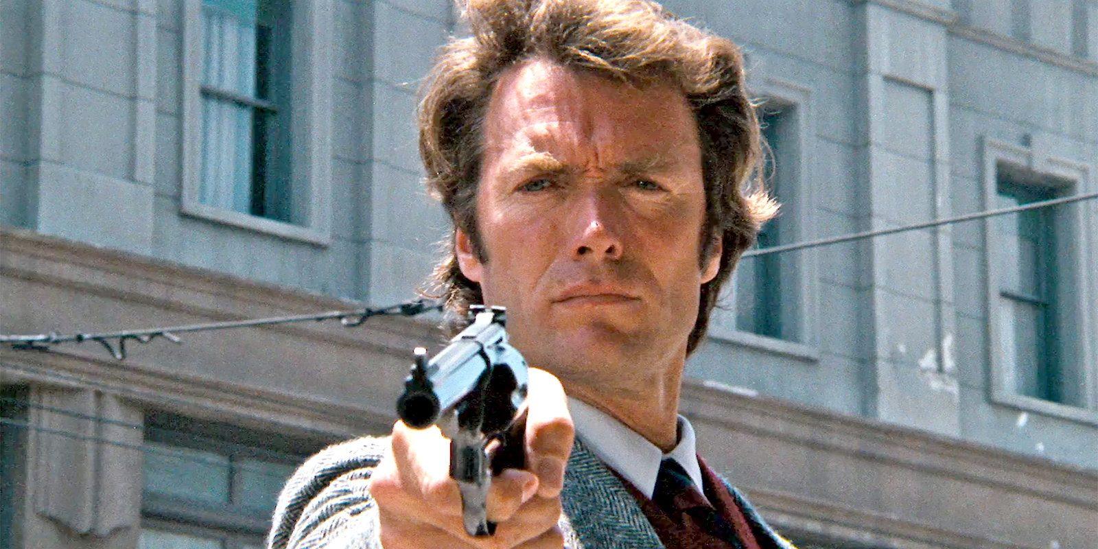 Dirty Harry och hans gigantiska revolver. Foto: Warner Bros. Pictures.