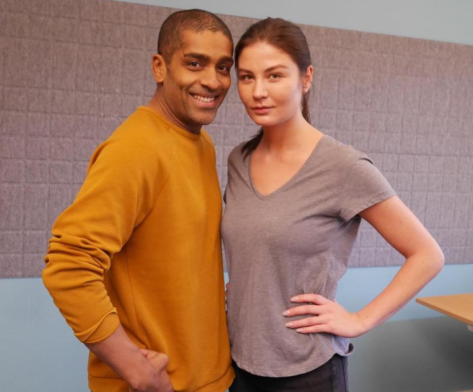 Alexander Karim och Malin Buska