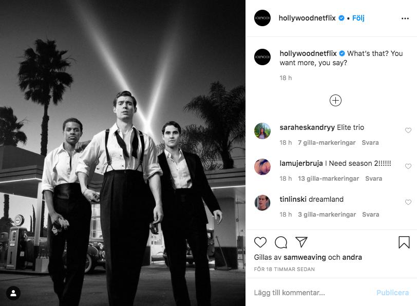 Hollywoods Instagramkonto