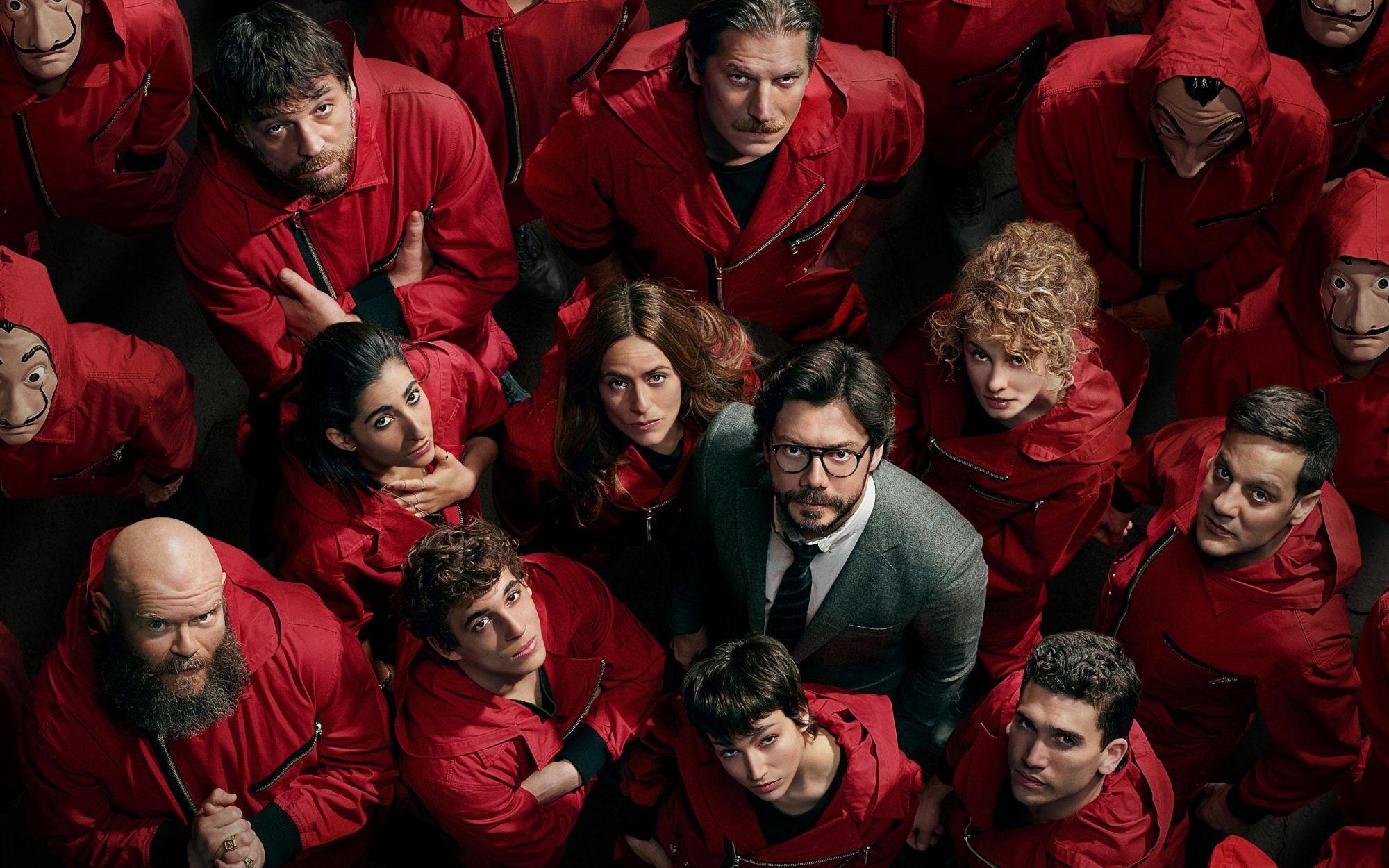 Den spanska Netflixserien La Casa de Papel.