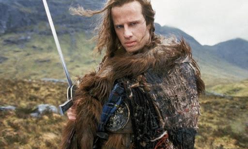 """Christopher Lambert i """"Highlander"""" (1986)."""