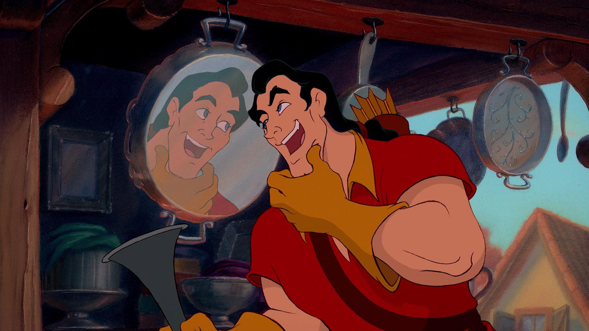 """Gaston i """"Skönheten och Odjuret""""."""