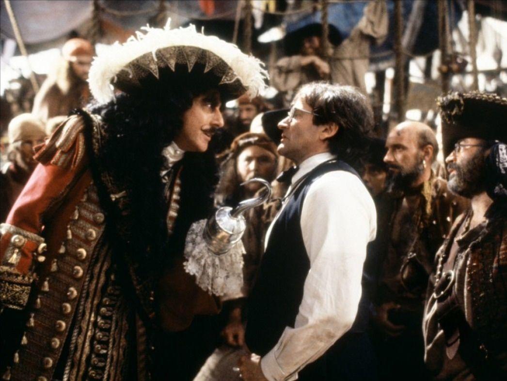 Dustin Hoffman och Robin Williams i Hook.