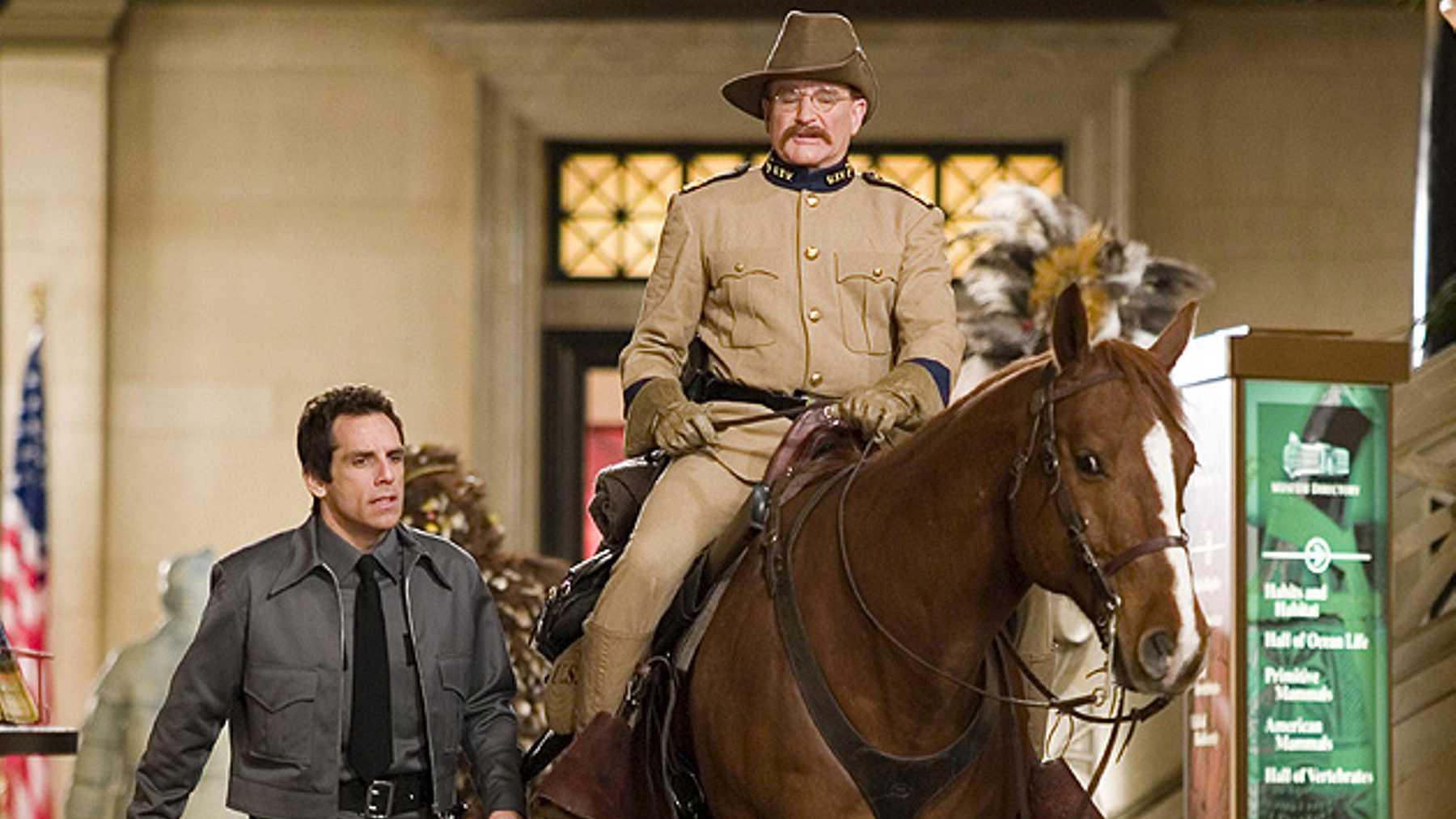 Robin Williams och Ben Stiller i Natt på museet.