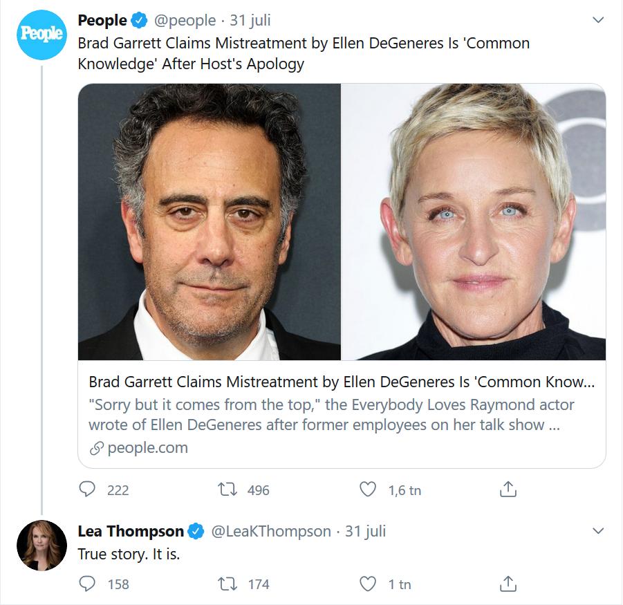 Lea Thompson bekräftar Garretts påstående på Twitter.