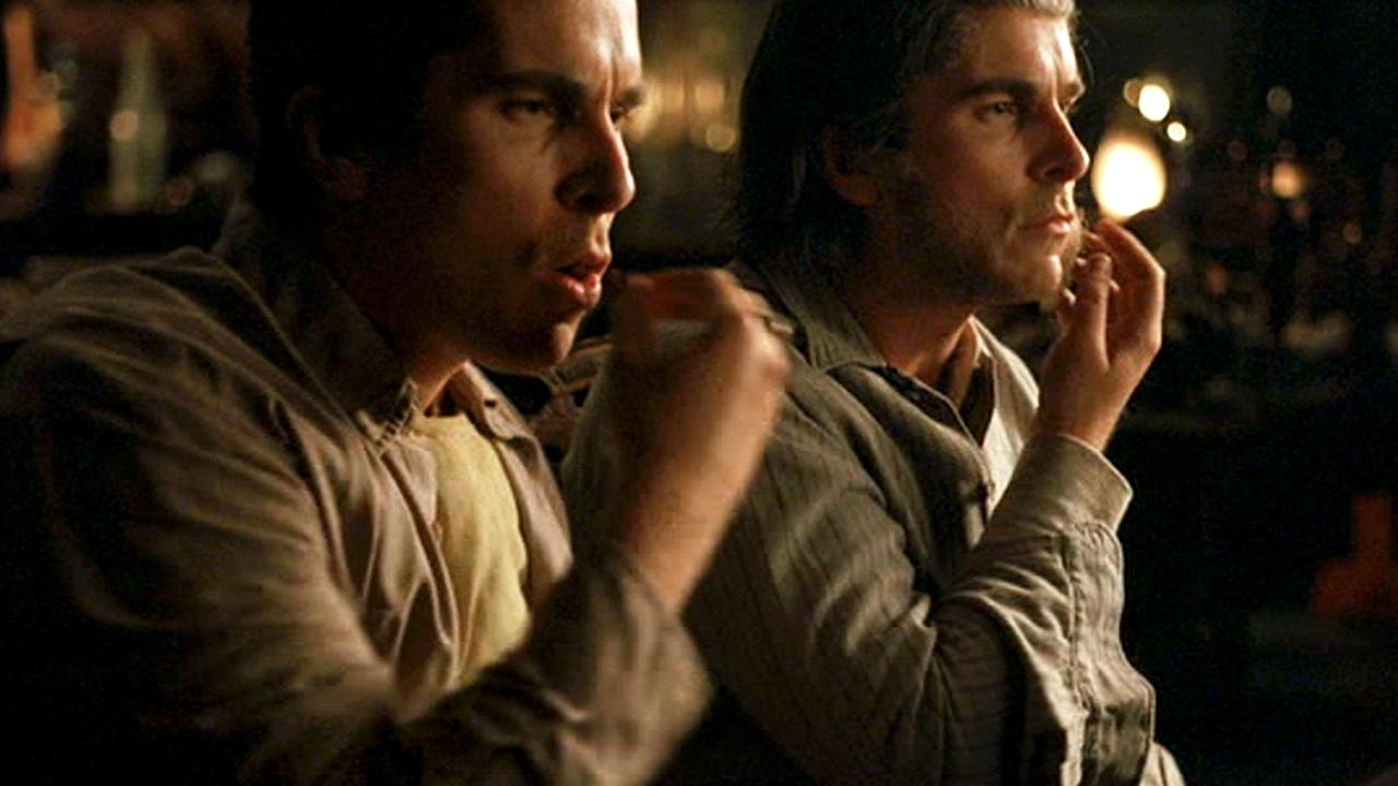 Christian Bale spelar mot sig själv i filmen The Prestige