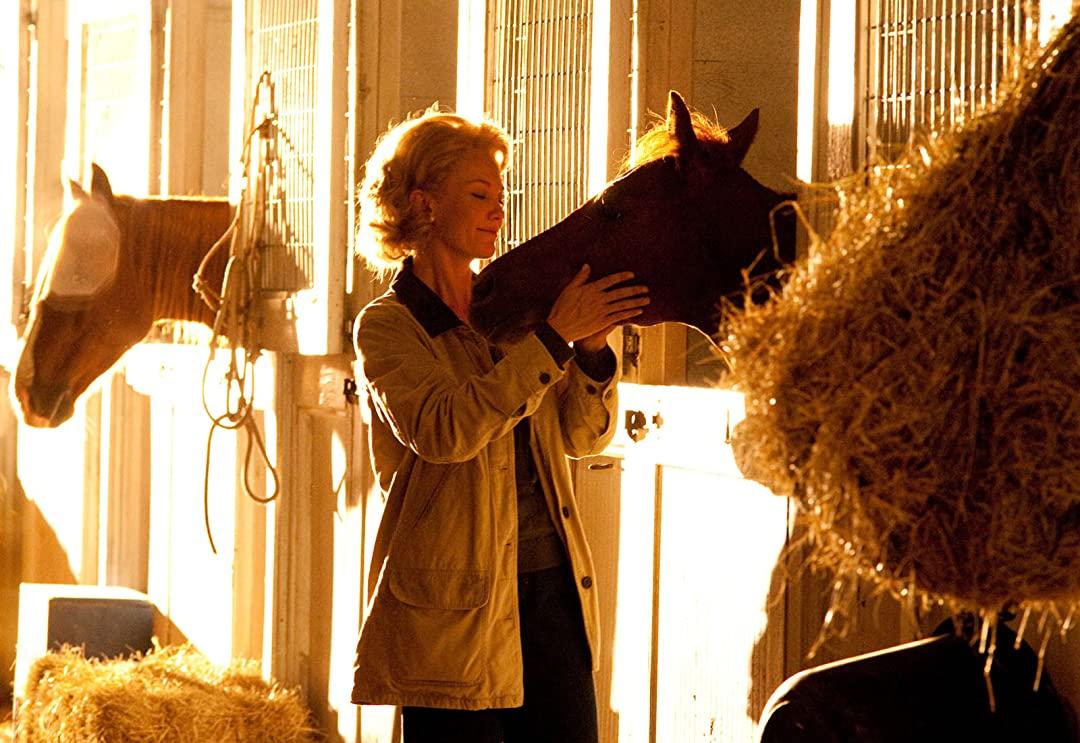 Penny tillsammans med hästen Secretariat