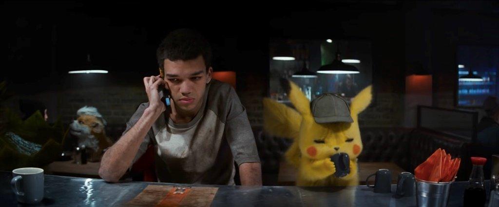Tim och Pikachu i Detective Pikachu