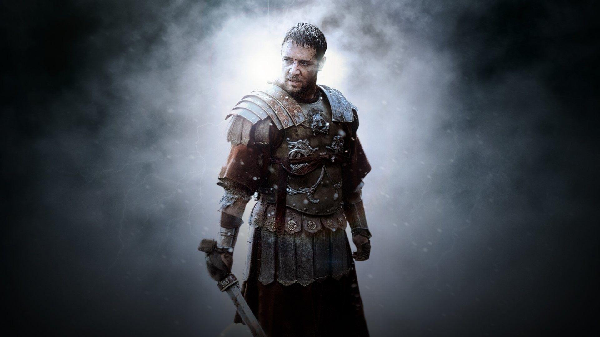 "Russell Crowe med sin Oscarsbelönade insats i ""Gladiator"". Foto: Universal Pictures."