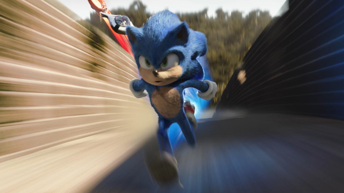 Sonic the Hedgehog i full speed.