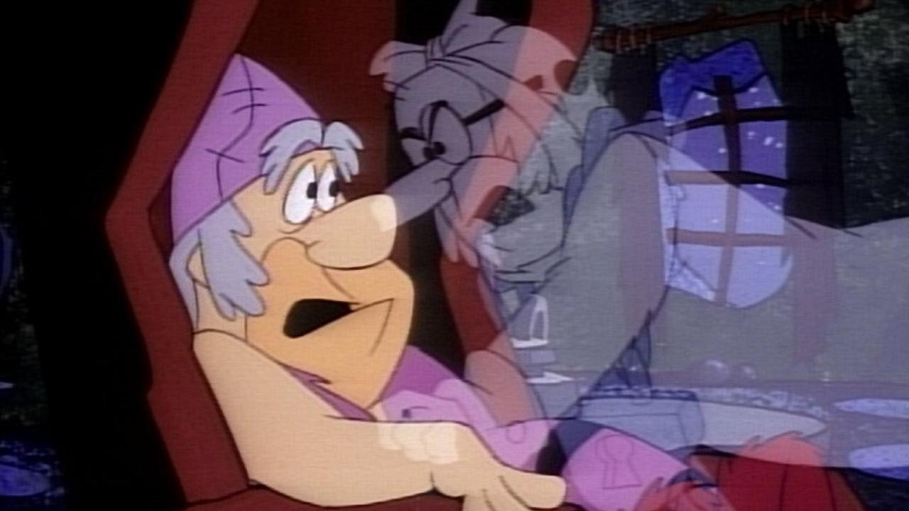 Fred Flinta blir hemsökt av ett av julspökena