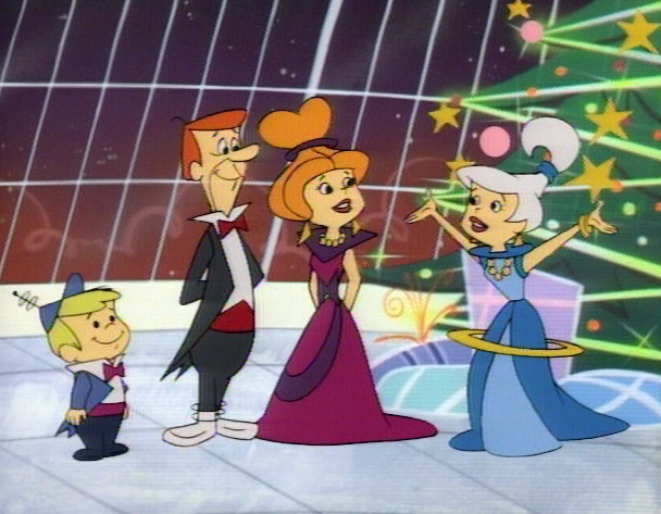Familjen Jetsons firar julen