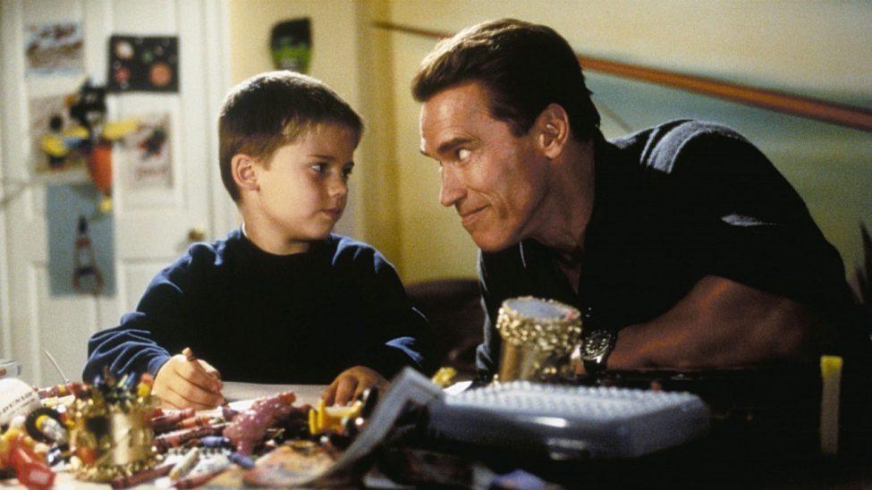 """Arnold Schwarzenegger i """"Klappjakten""""."""