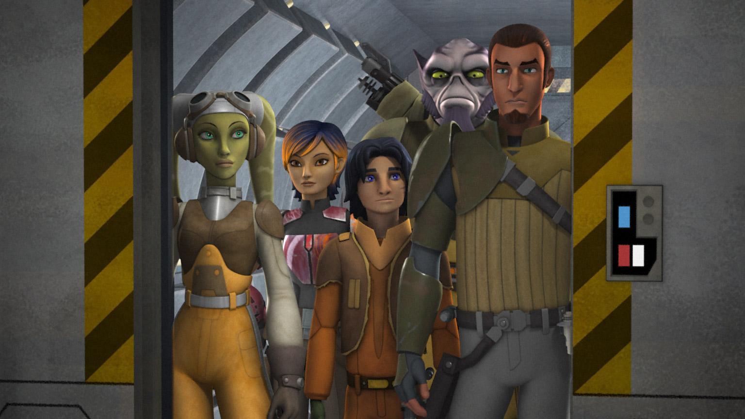Rebellerna i Star Wars Rebels. Serien rekommenderas för alla Star Wars-fans. Foto: Disney+